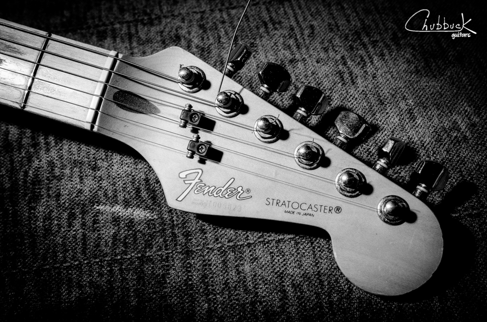 "Fender Stratocaster headstock.  ""Made in Japan"""