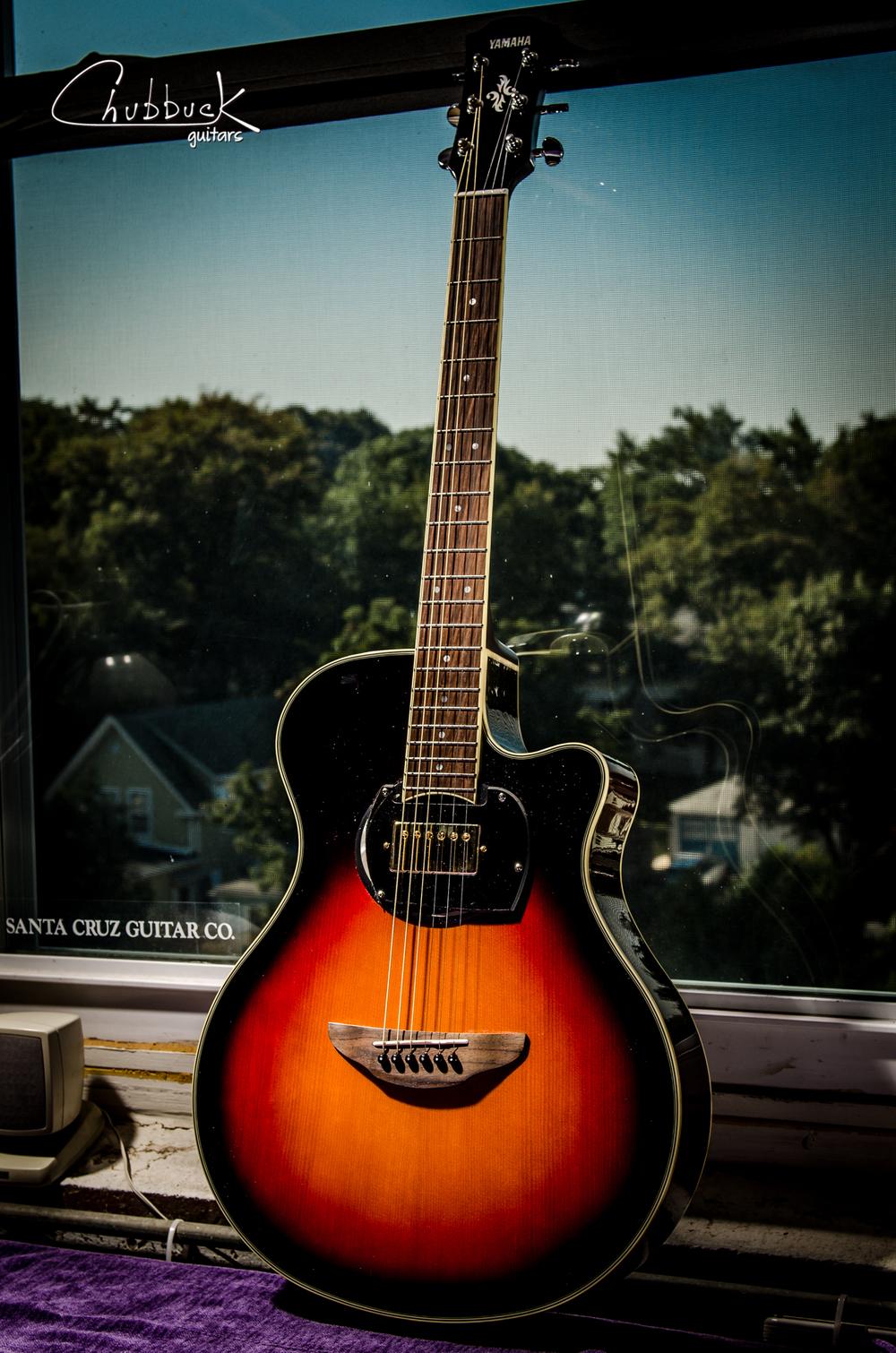 put a humbucker in the sound hole yamaha apx500iii 4 7 lbs chubbuck guitars making. Black Bedroom Furniture Sets. Home Design Ideas