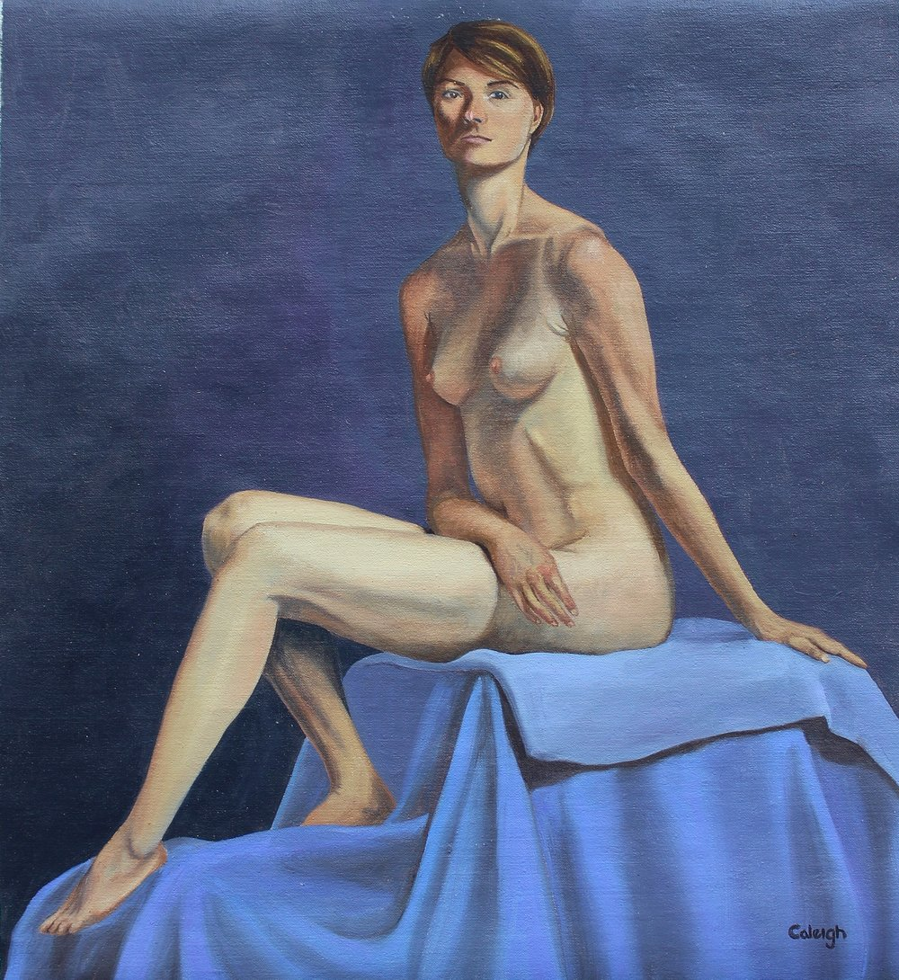 Chiara II   oil on linen  14 x 13 inches  2015