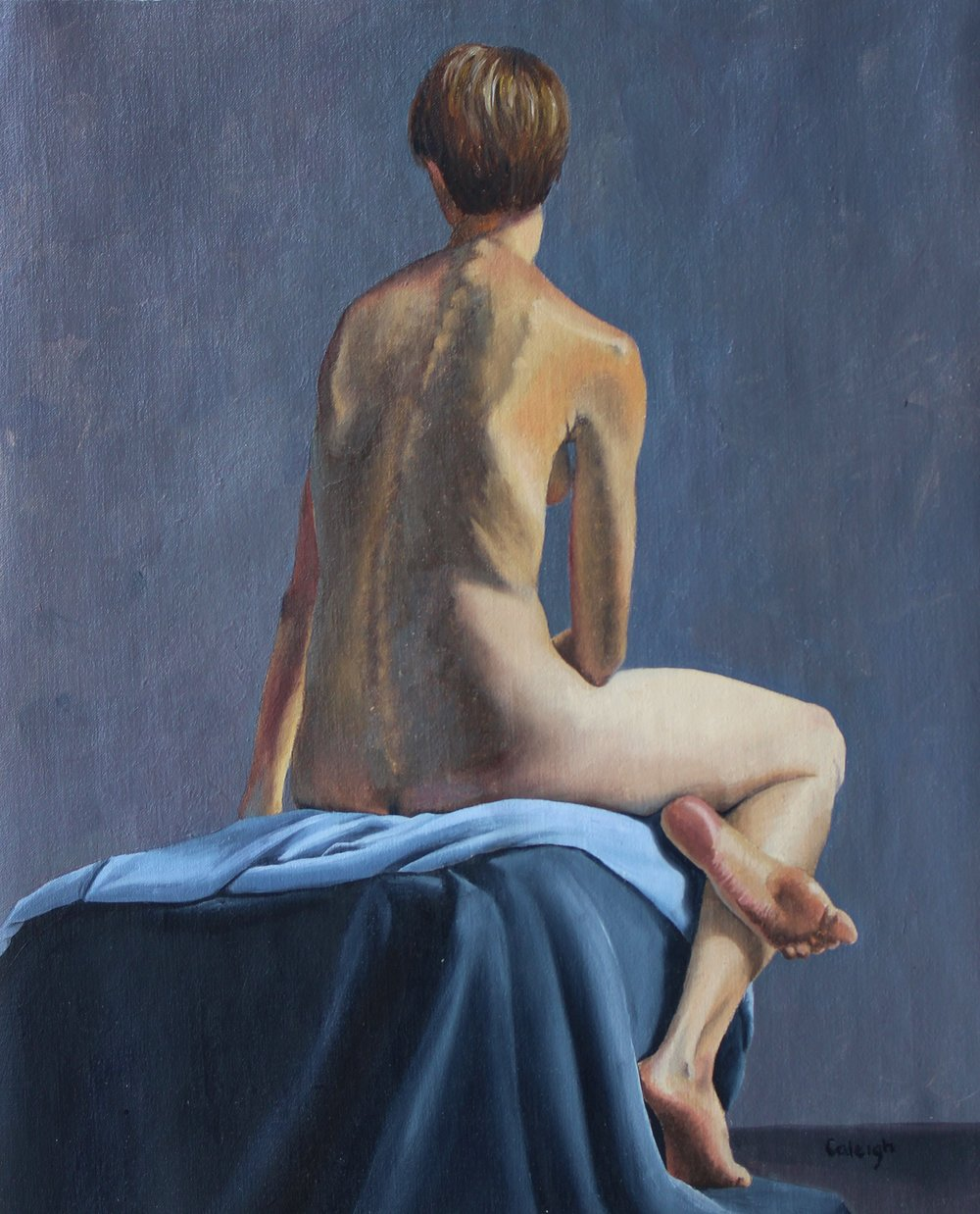 Chiara I   oil on linen  15 x 12.5 inches  2015