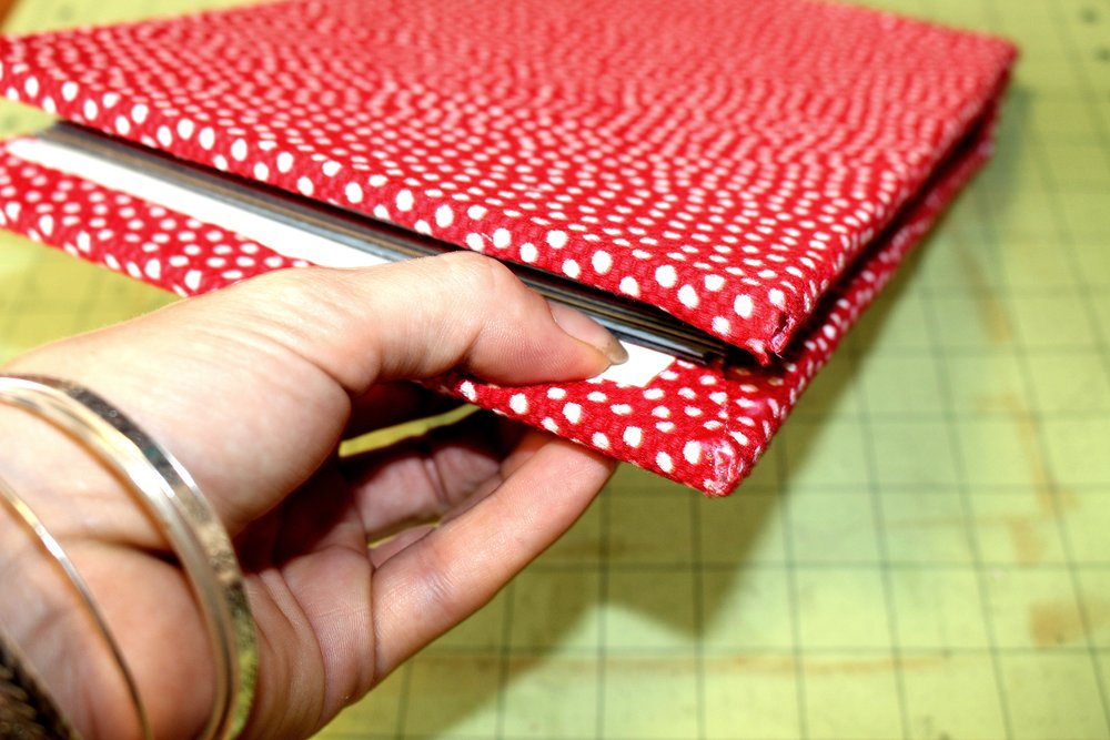 binding a cloth covered book