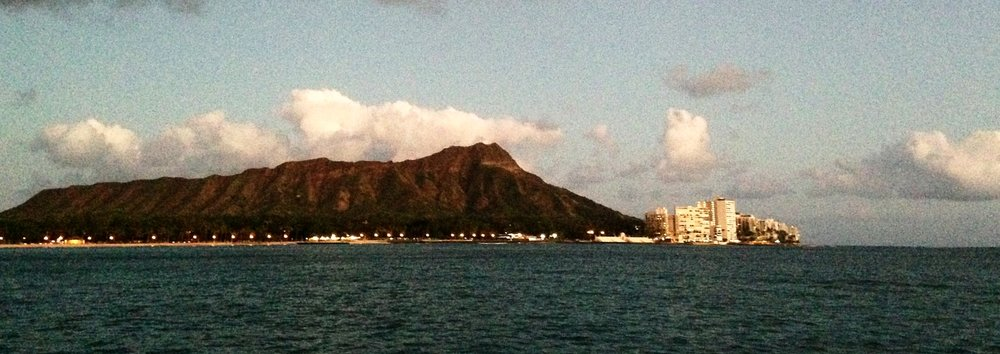 Diamond Head today as seen from a harbor cruise