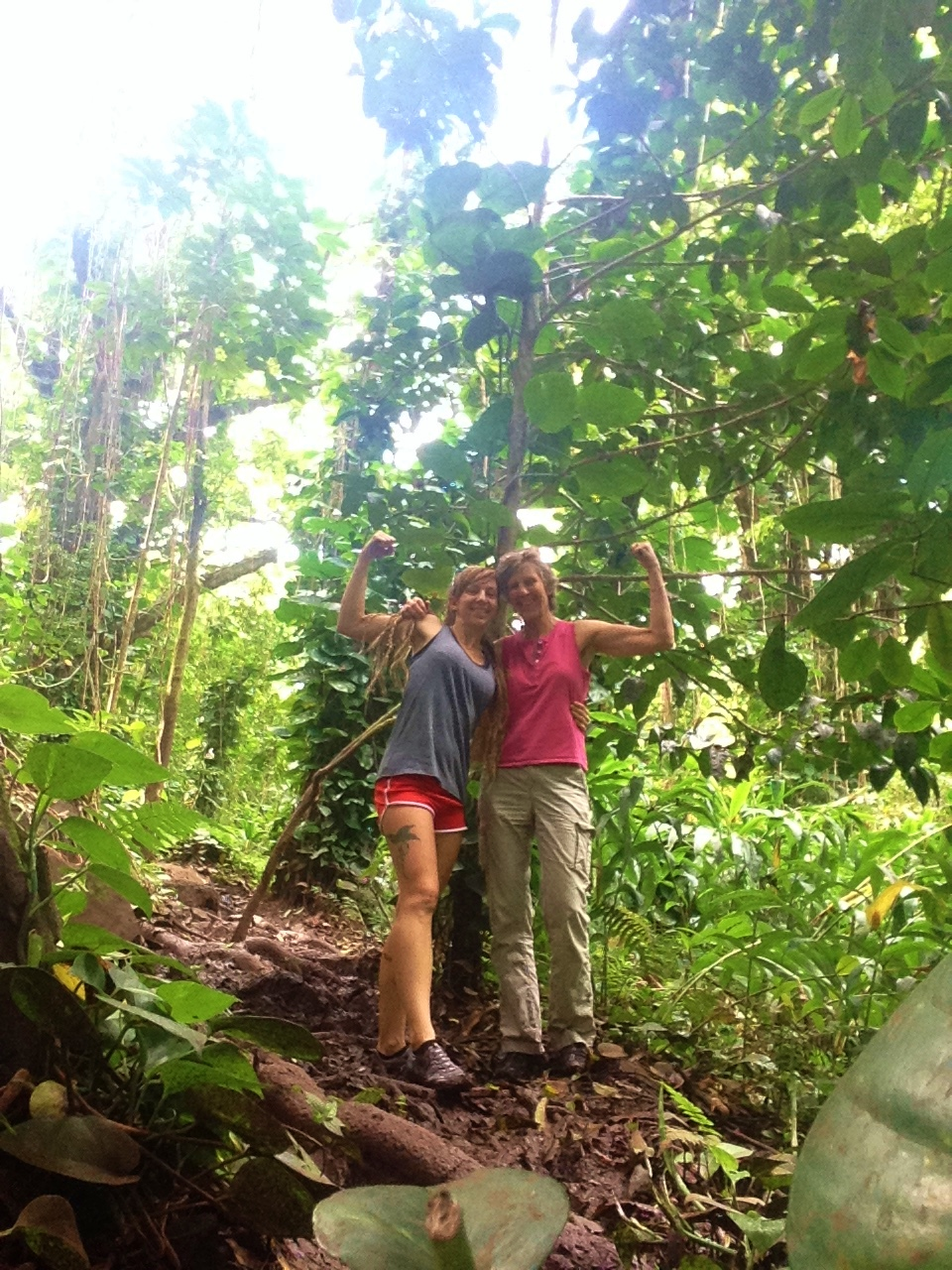 Ka'au Crater hike with mama!