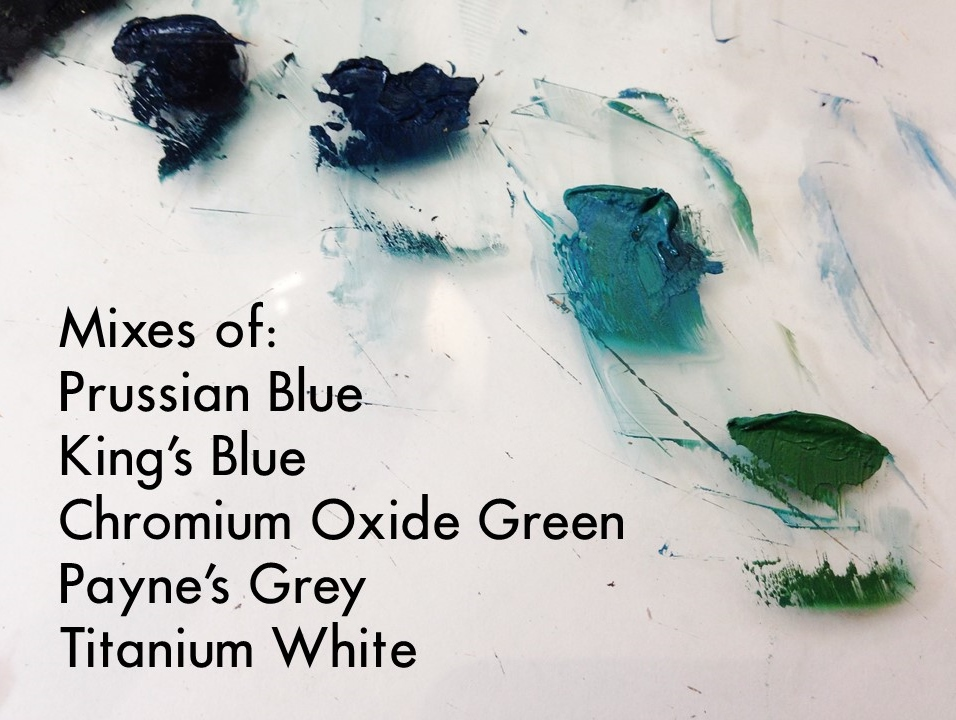 mixing oil paint