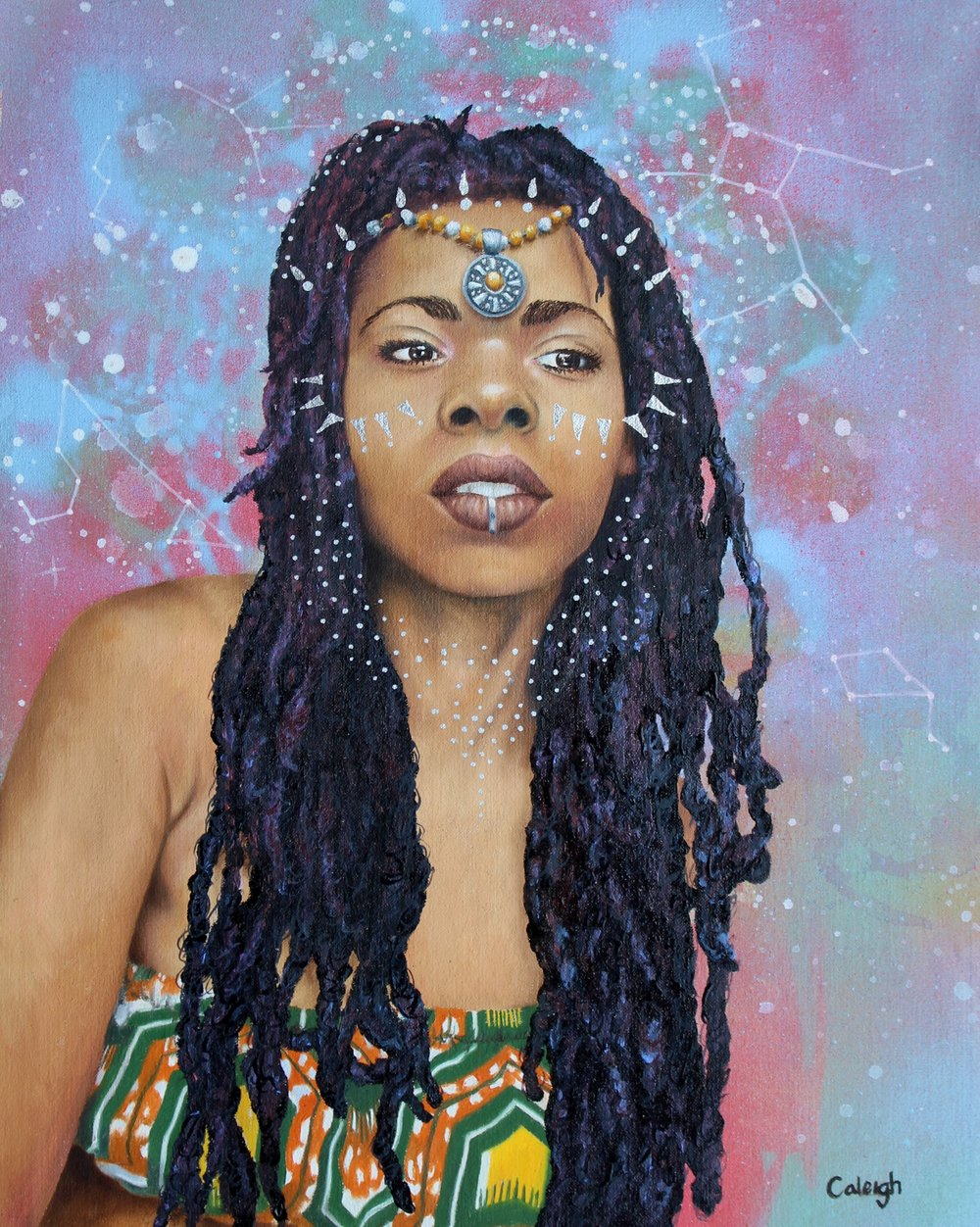 beautiful black goddess painting