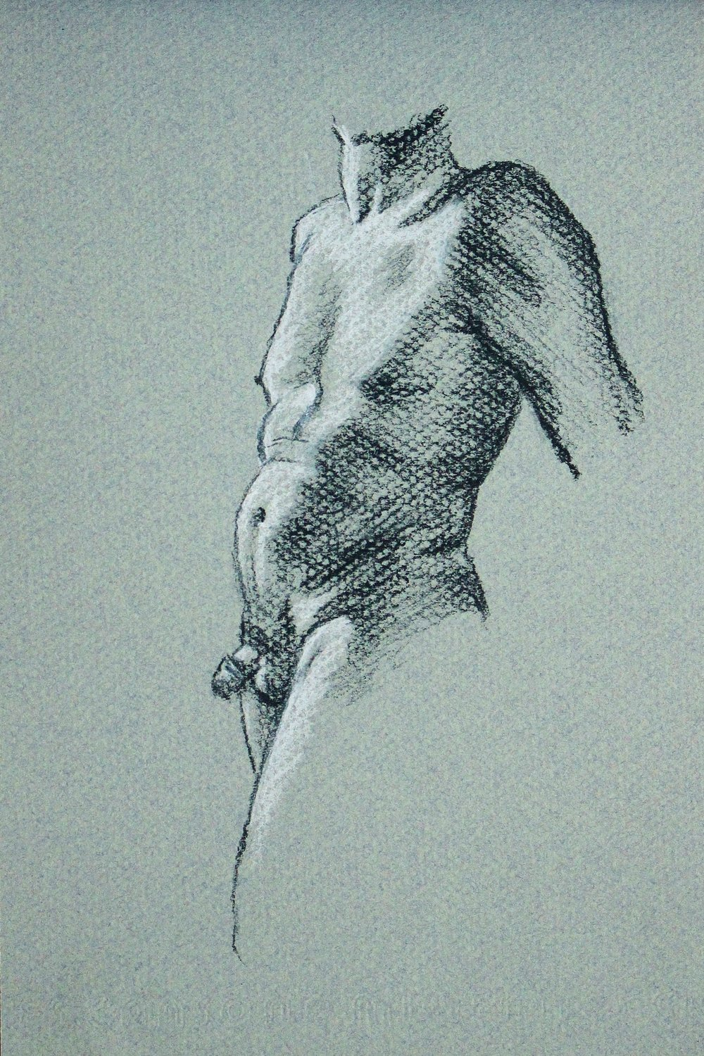 charcoal male nude drawing