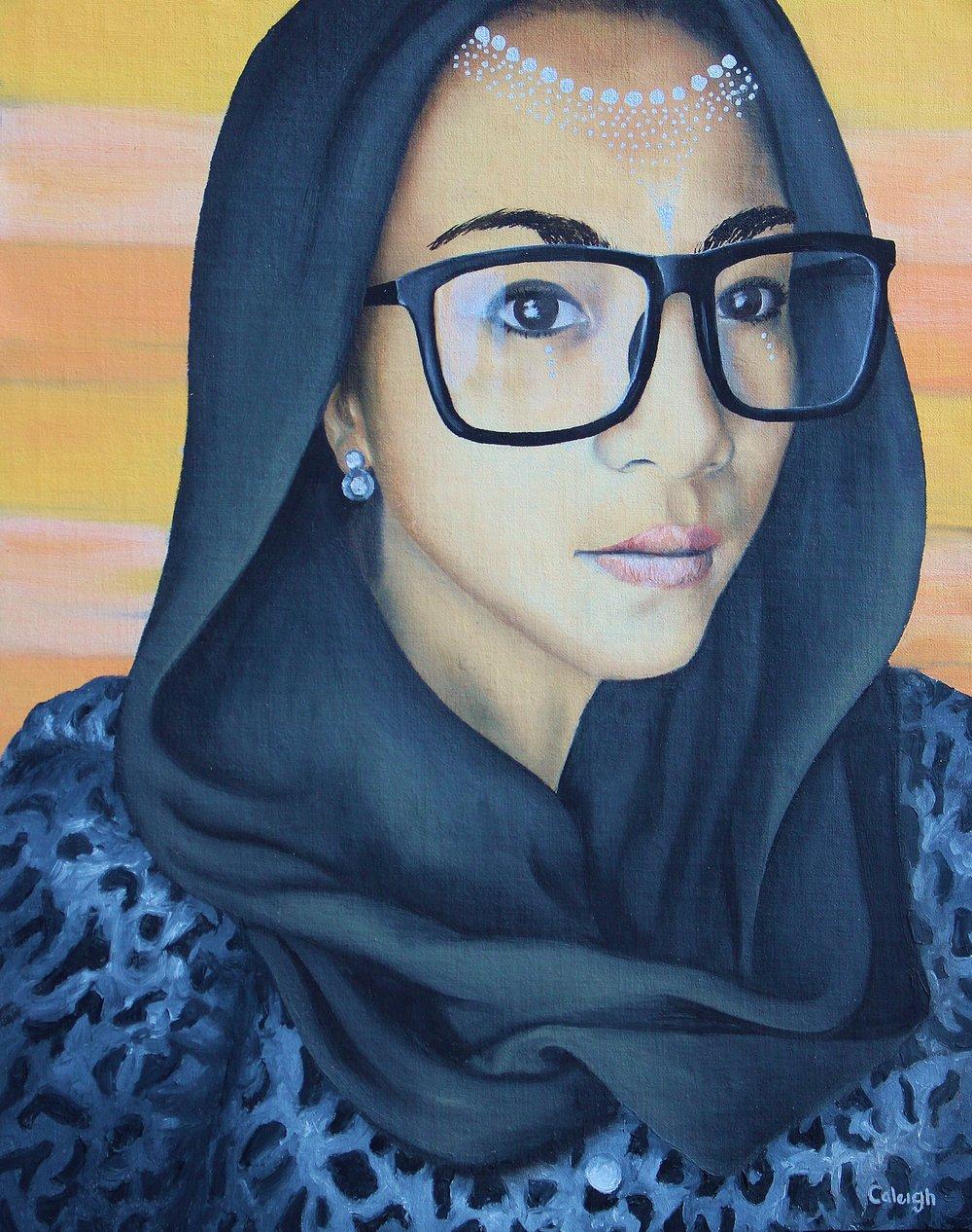 muslim malaysian goddess oil painting