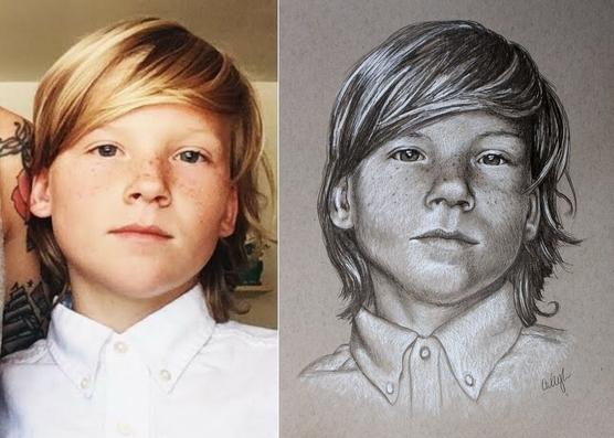 pencil portrait artwork