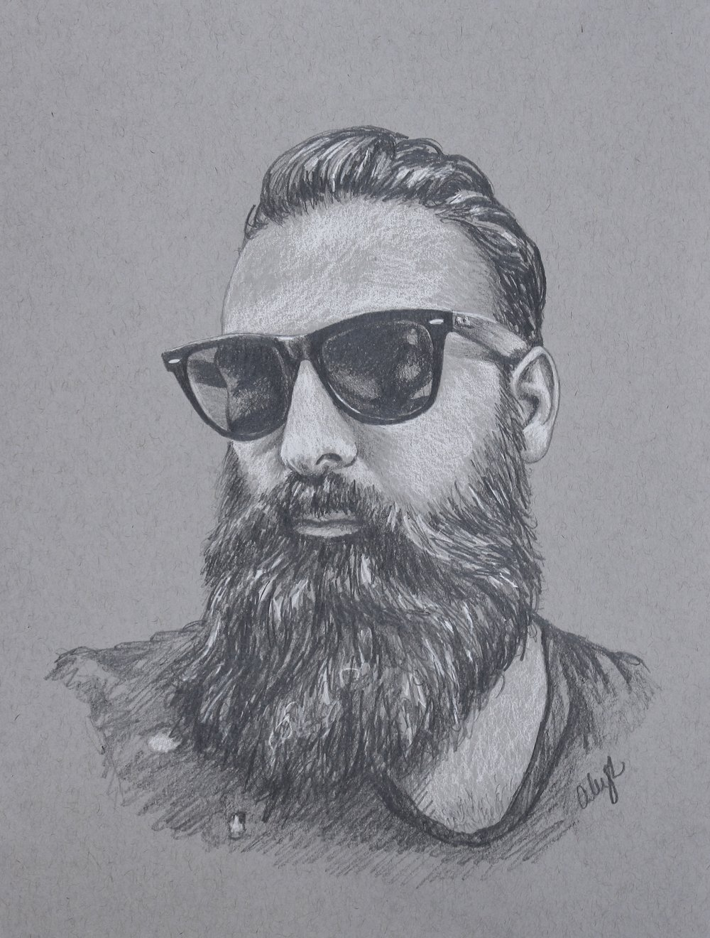 bearded hottie drawing