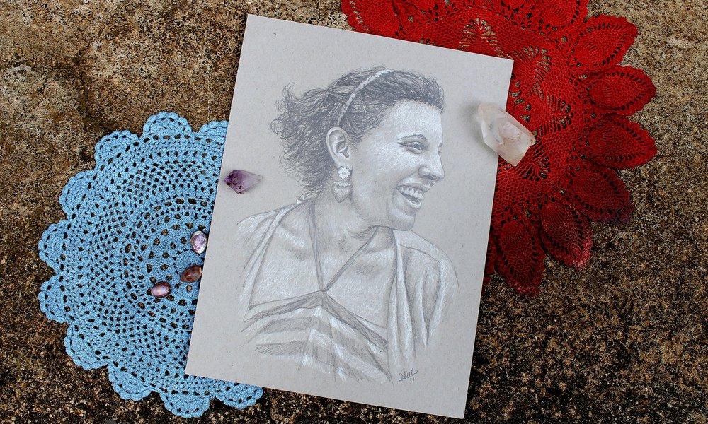 pencil portrait drawing