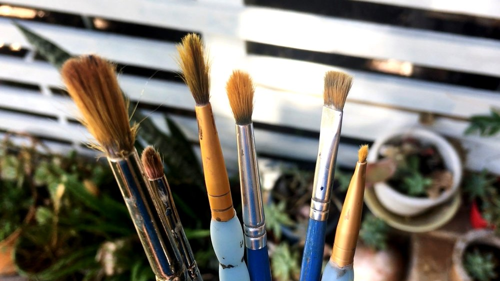 cleaning oil brushes