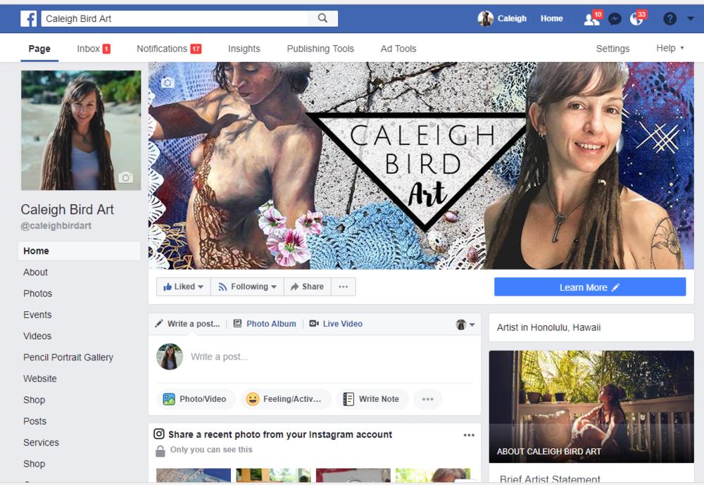 facebook banner for artist