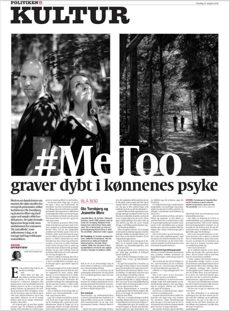 POLITIKEN 15. august 2018  FOTO: Emma Sejersen