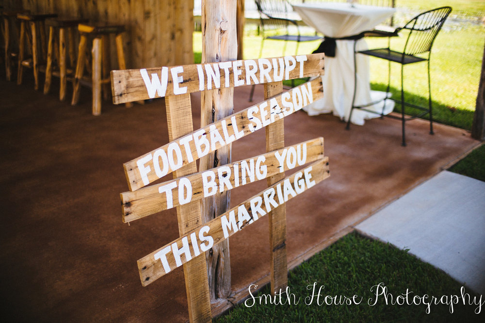 Texas football wedding Theme