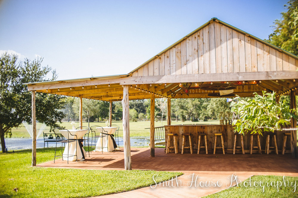 Outdoor wedding venue in Houston
