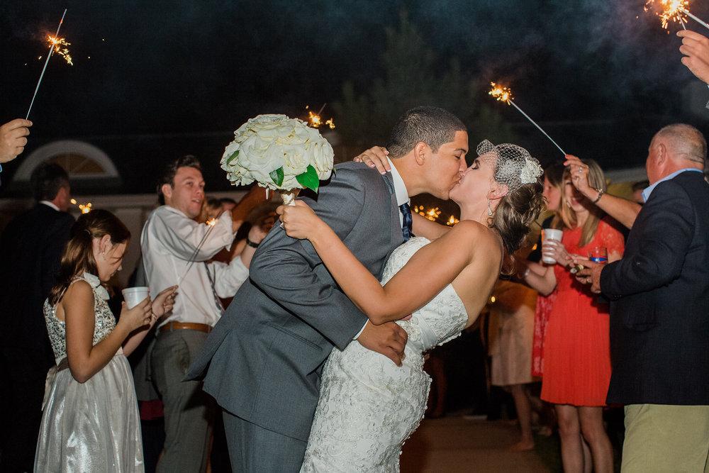 Plan Our Day Houston | Wedding Coordinators | Kemah, TX Wedding at Texas Corinithian Yacht Club | Sparkler wedding exit