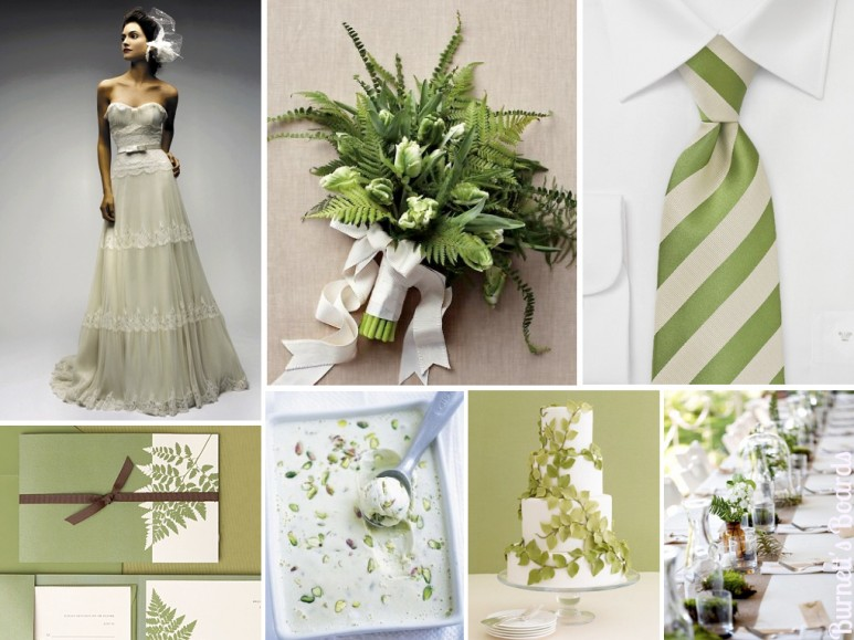 2017 Wedding Trends | Pantone Color of the Year Kale | Via Burnett's Boards