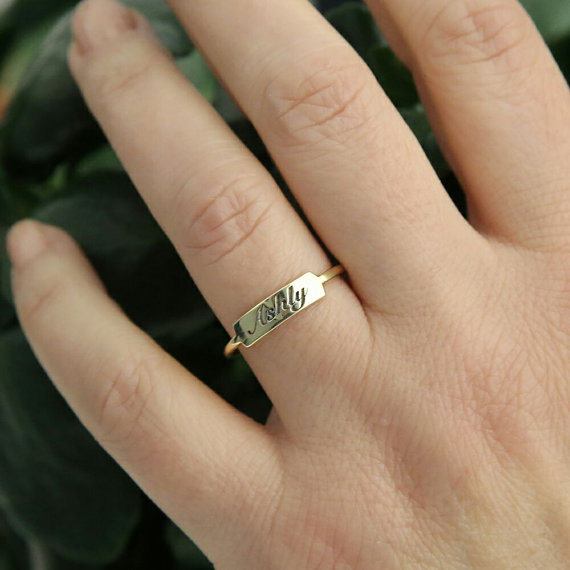 My Favorite Bridesmaids Gifts from Etsy | Rose Gold Ring | Ring with your name