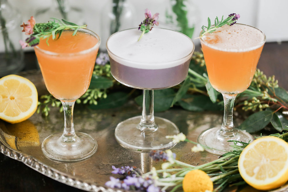 Cocktail Ideas | Bridal Shower Inspiration | Lavender and lemon