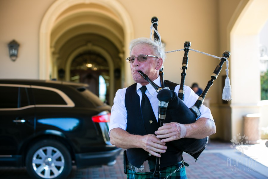 Bag Pipe Welcome Music | Royal Oaks Country Club Wedding