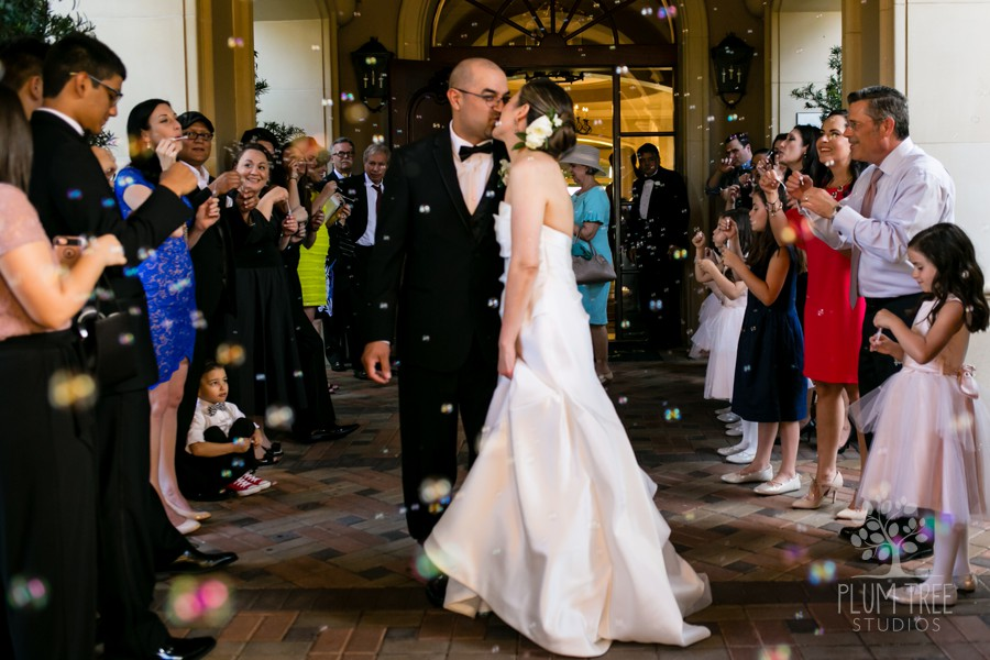 Bride and Groom Bubble Exit | Royal Oaks Country Club Wedding