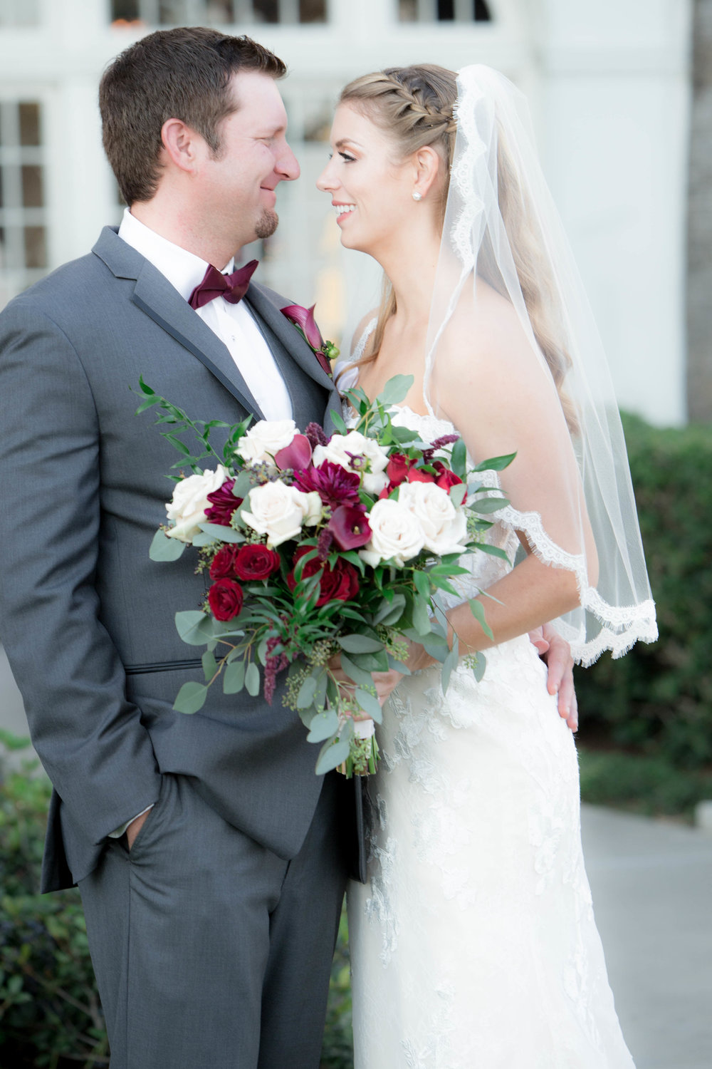 First Look | Bride and Groom Portrait Galveston Weddings