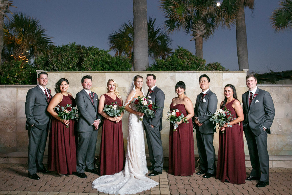 Winter Wedding with Marsala and Rose Gold | Hotel Galvez