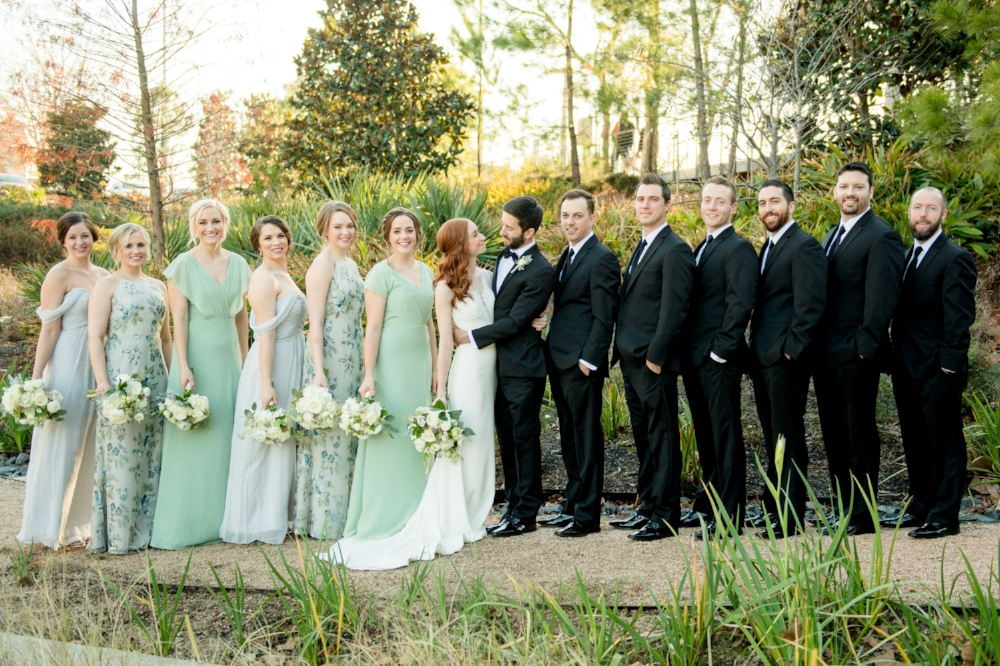 Mint and ivory bridesmaids dresses | The Dunlavy Wedding