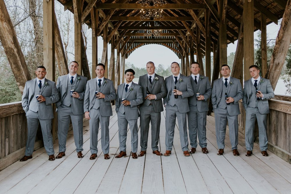Groomsmen Photo Shots|Big Sky Barn Wedding|Houston Wedding Planner
