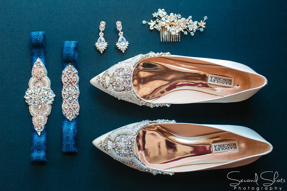 Brides Shoes and Jewelry Shot|Noah's Event Venue|Houston Wedding Planner