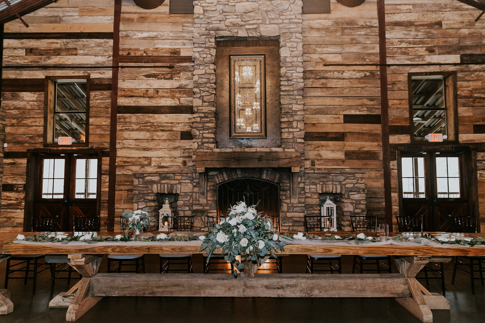 Big Sky Barn Wedding | Greenery decor