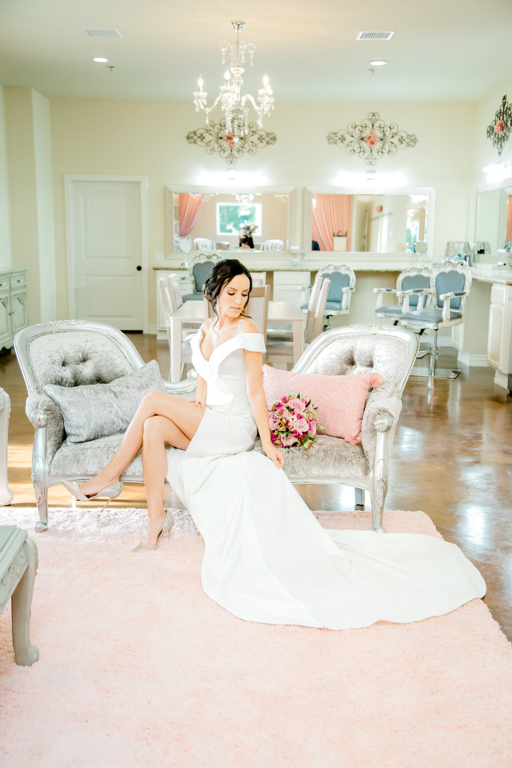 Modern, Sexy wedding dress from Stephen Grace Atelier | Southern Lace Estates bridal suite