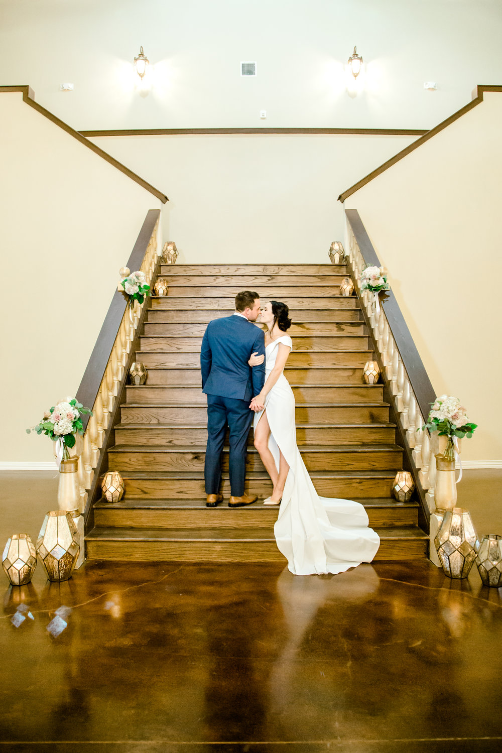 Grand Staircase at Southern Lace Estates | Geometric wedding decor