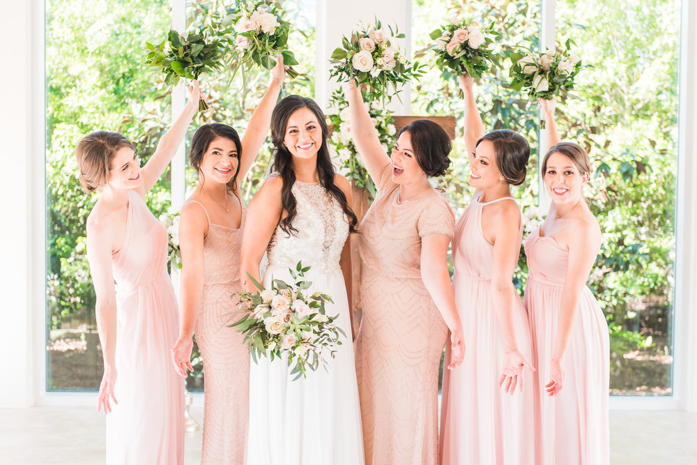 Blush wedding | Blush Bridesmaids dresses, mismatched dresses