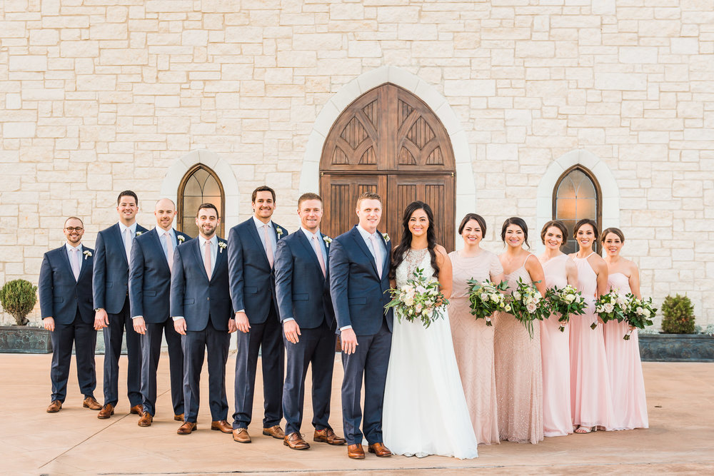 Blush and Navy Wedding | Modern Weddings in Houston