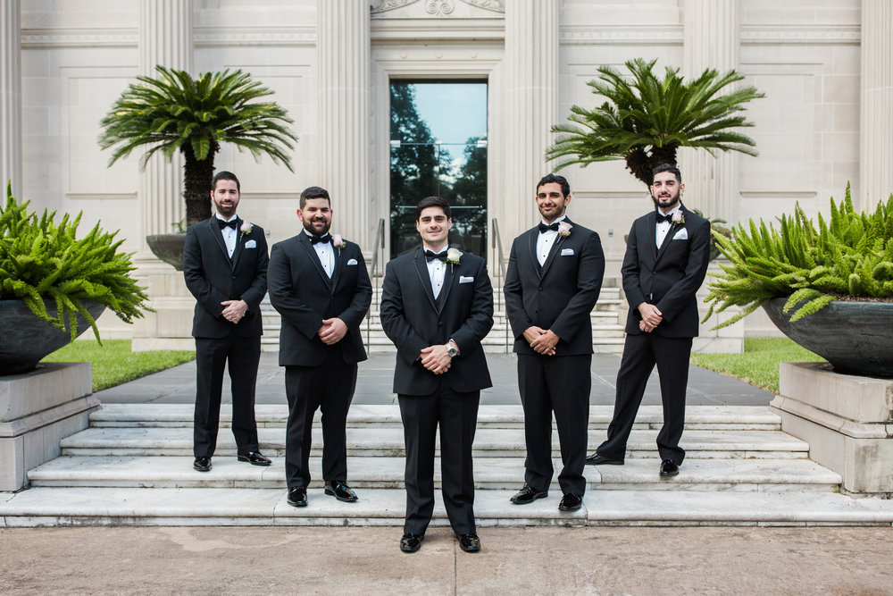 Groomsmen photos in the museum district