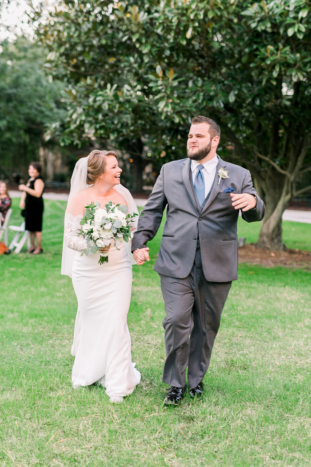 Fall wedding at the Houstonian, Just Married!