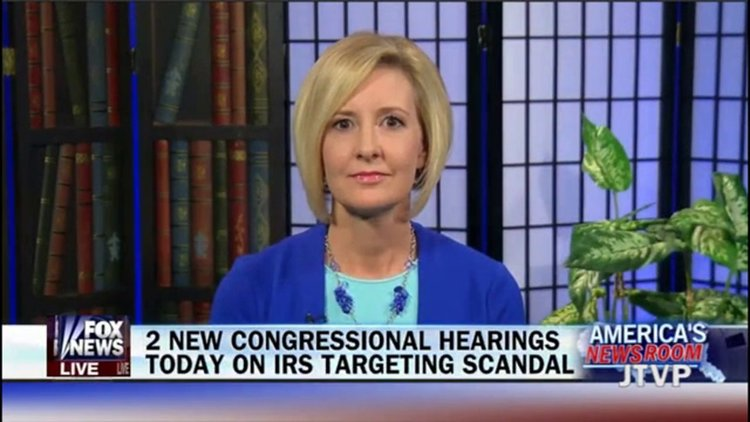 Becky Gerritson appearing on FOX's America's News Live Discussing New  Developments in the IRS investigation 7 30 2014
