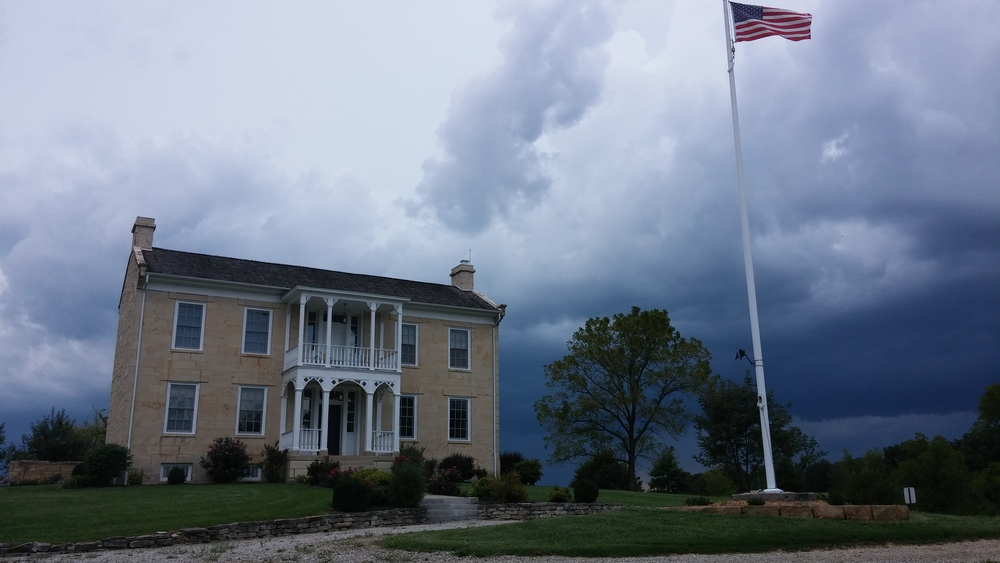 The Colonel Bolton House holds its own against the storm.