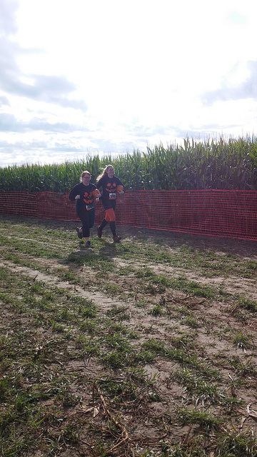 Ashley and Sam heading toward the finish line