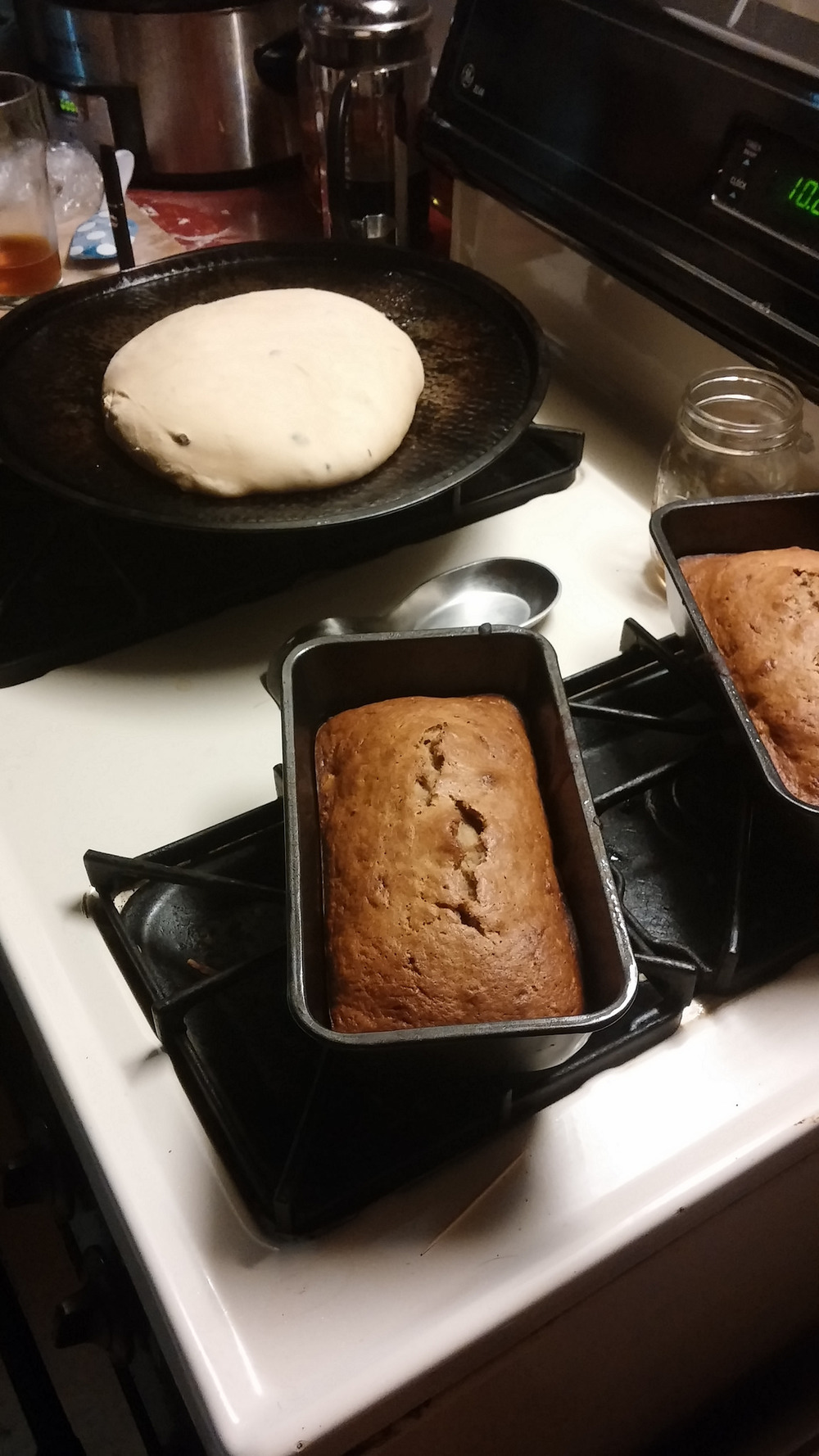 Late night baking leads to mindless eating. Always.