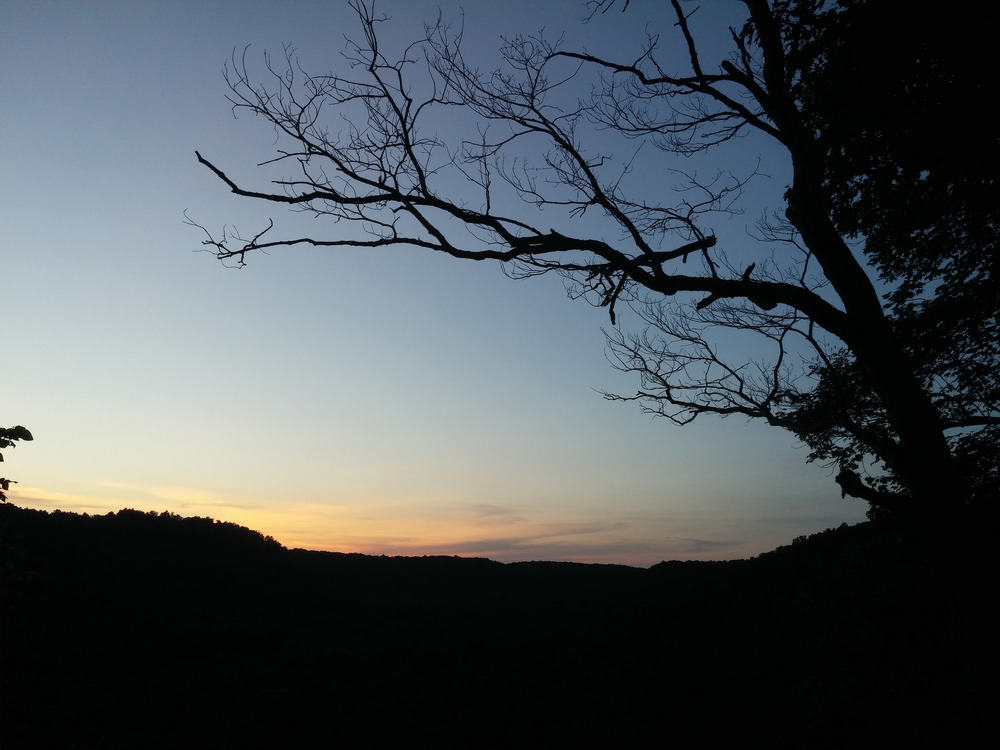 A sunset at Mammoth Cave National Park in Kentucky