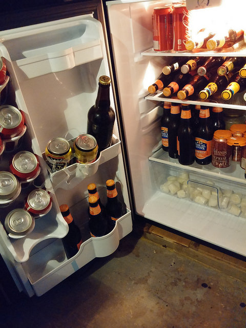 Party fridge says help yourself!