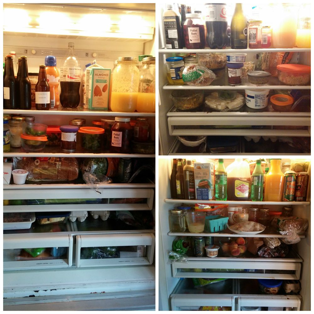 Current fridge on the left; recent fridge pics on the right