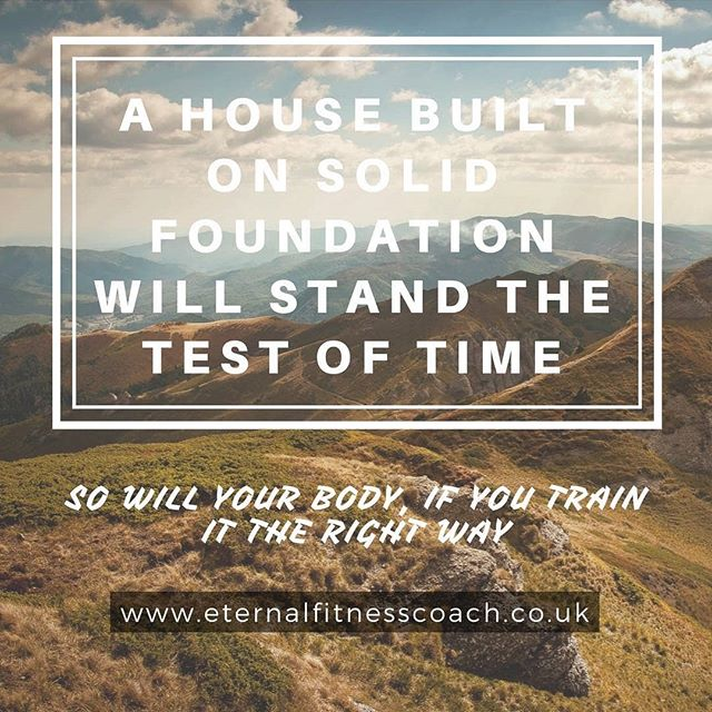 Its time to stop comparing yourself to others and focus on you and your foundations. Are you thinking about the bigger picture of your life?  #lifegoals #foundation #yourbody #testoftime #eternalfitnesscoach #timetothink #contemplate #workout #life