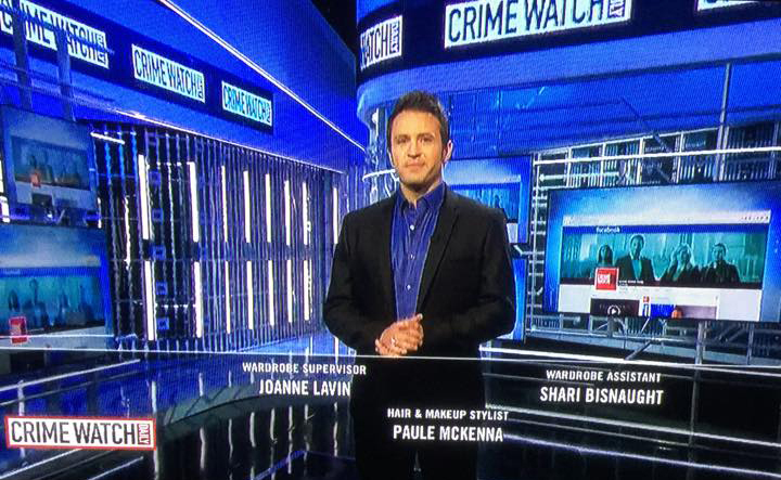 """Crime Watch Daily"" with Chris Hansen. Wardrobe Supervisor Joanne Lavin."