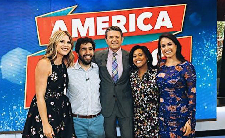 """America Says""  hosted by John Michael Higgins. Wardrobe Stylist Joanne Lavin."