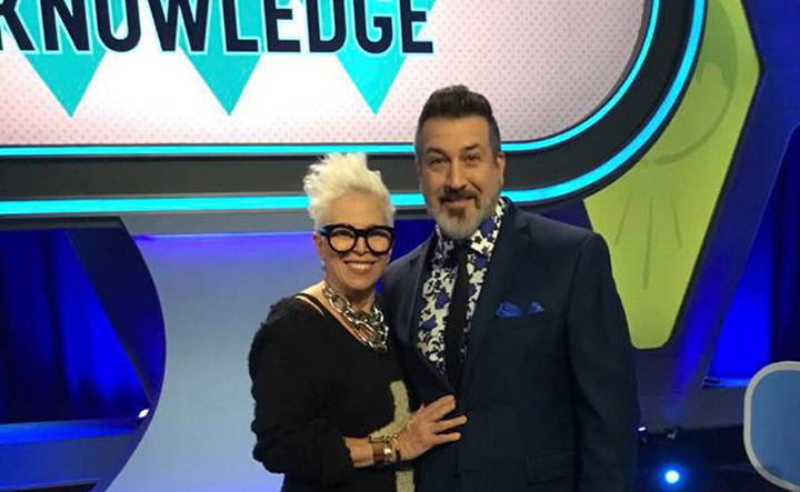 """COMMON KNOWLEDGE""  hosted by Joey Fatone from *NSYNC.   Wardrobe Stylist Joanne Lavin."