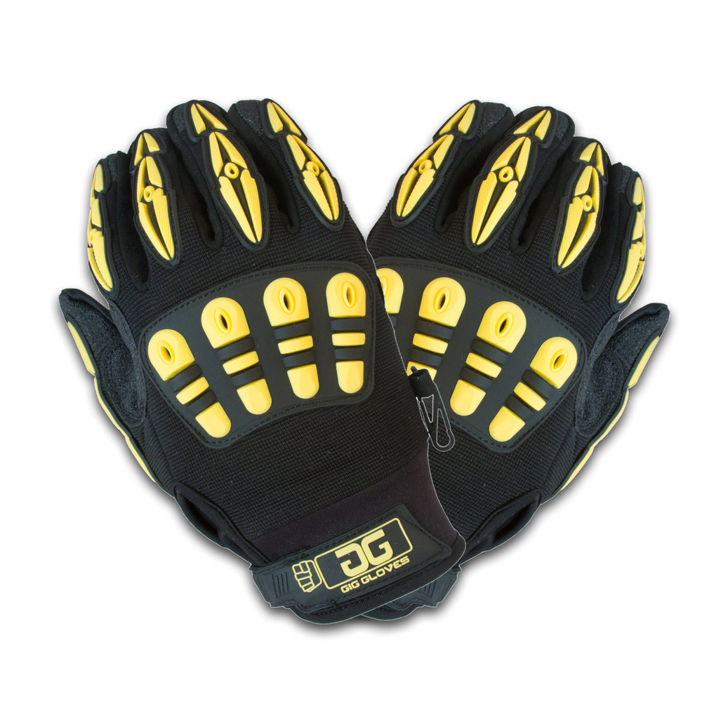 All New Original Gig Gloves v2 For great visibility in low light environments, the Original Gig Gloves are now even better. We've gone ahead and added some all new features that make Gig Gloves even more functional and a better glove for production professionals to be wearing while on the job. We've also added more sizes. SEE MORE IN STOCK - ORDER NOW!