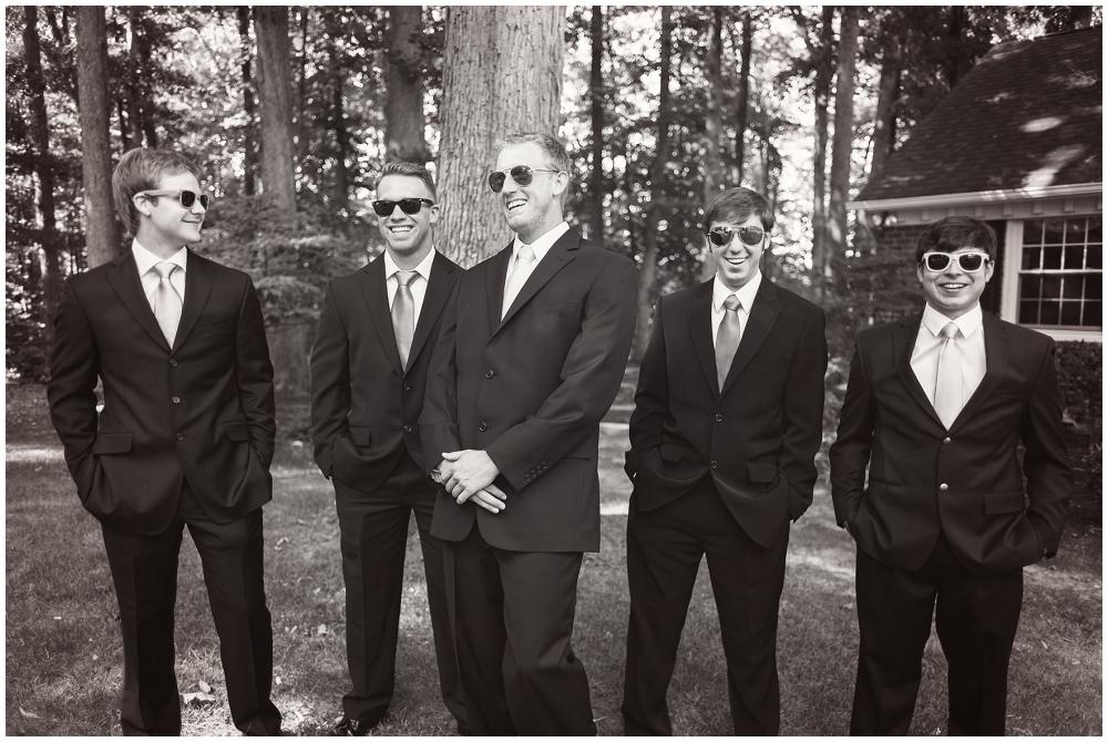 Groomsmen sunglasses, Richmond VA Wedding Photographer